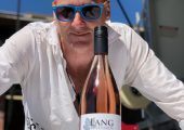 Winemaker Dorian stands with the brand new Lang Rose 2018.